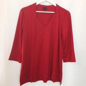 Worthington long sleeve red blouse size large
